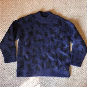 Kate Spade Navy and Black Leopard Sweater! NWOT!